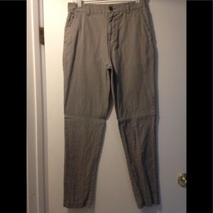 UO Hawkings McGill pants linen cotton skinny chino